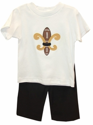 Le' Za Me Boy's Saints Football Pants Set
