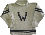 Monogrammed Children's Sweater In Grey.