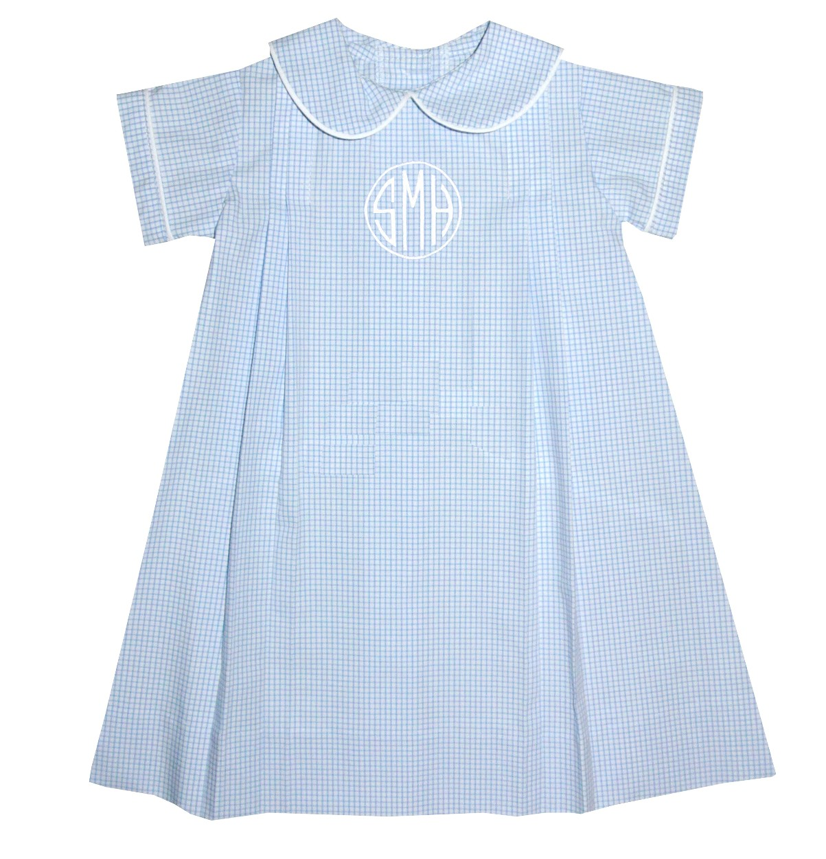 Lullaby Set Baby Boy\'s Light Blue Windowpane Check Day Gown