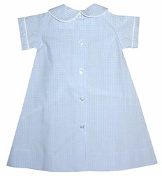 Lullaby Set Baby Boy's Light Blue Windowpane Check Day Gown