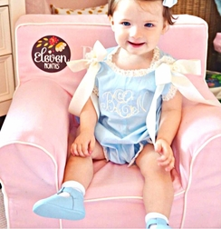 Lullaby Set Heirloom Blue Cotton Lawn and French Lace Bubble