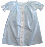 Baby Gown Boy's and Girl's in Blue & Ecru by Lullaby Set.