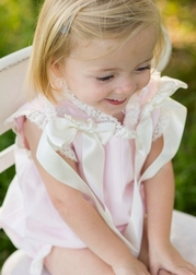 Lullaby Set Heirloom Pink Cotton Lawn and French Lace Bubble