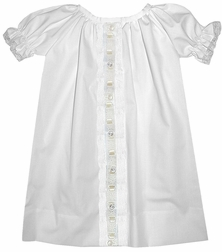 Baby Girl's Gown in White with Ecru Coming Home Hospital or Day Wear by Lullaby Set