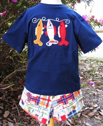 Boy's Madras Fish Custom John John or Longall