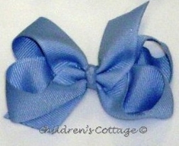 Girl's Hair Bow in Grosgrain Ribbon, Size Medium