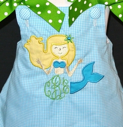Mermaid Monogram Frame Dress, Custom Princess Dress or Outfit