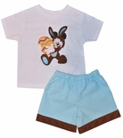 Mickey Mouse Dressed as the Easter Bunny Shirt or Shorts Set