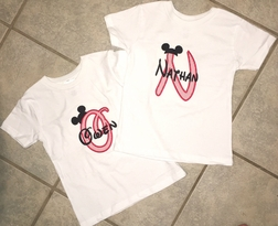 Custom Boy's Disney Mickey Mouse Monogram Shirt Outfit