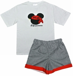 Custom Disney Mickey Mouse Pirate Shirt Or Outfit.
