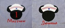 Mickey Mouse Sailor Disney Cruise Custom John John, Longall Outfit