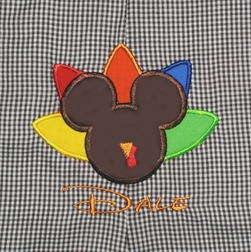 MICKEY MOUSE THANKSGIVING Turkey Custom Shirt, John John, Longall or Outfit
