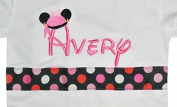 Custom Disney Minnie Mouse as a Pirate Monogrammed Shirt.