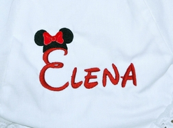 Monogrammed Minnie Mouse Bloomers Custom Made for Girls