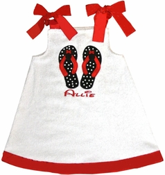Girl Mouse Flip Flops Monogrammed Swimsuit Cover Up