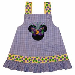 Minnie Mouse Mardi Gras Mask Custom Disney Girl Dress