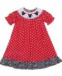 Minnie Mouse Smocked Dress by Banana Split
