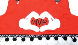 Minnie Mouse Monogrammed Heart Hands Custom Outfit.