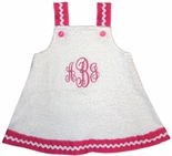 Personalized Swimsuit Cover Up for Girls, Monogrammed Beach Cover