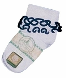 Girl's Monogrammed Socks with Various Color Twirl Trims