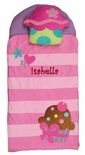 Monogrammable Cupcake Nap Mat for Preschool Kindergarten and for Sleep Overs by Stephen Joseph