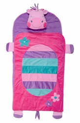 Monogrammable Girl's Unicorn Preschool Kindergarten Nap Mat or Sleeping Bag by Stephen Joseph