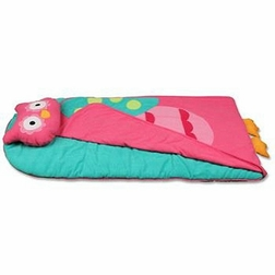 owl nap mat or sleeping bag for toddler girls day care preschool and