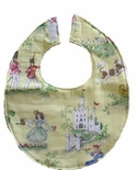 Baby Monogrammed Bib, Custom Made in Various Toile Fabrics.