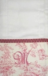 Monogrammed Burp Cloths Custom Made in Various Toile Fabrics.
