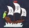Monogrammed Boy's Ship/Pirate Ship and Parrot Shorts Outfit or Shirt Only