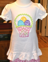 Monogrammed Easter Basket and Easter Eggs Outfit