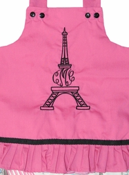 Custom Personalized Girl's Monogram Eiffle Tower Paris Outfit.
