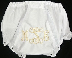 Monogrammed Baby Girl Bloomers, Diaper Covers for Girls