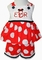 Minnie Mouse Monogrammed Big Dots Custom Outfit