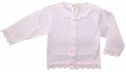 Girl's Personalized Monogrammable Pink Sweater