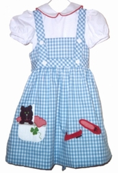 Wizard Of Oz Dorothy And Toto Dress By Mulberry Street.
