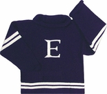 Monogrammed Children's Sweater In White And Navy.