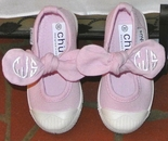 New Girl's Monogrammed Mary Jane Bow Shoes