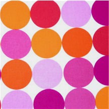 Orange and Pink Disco Dots