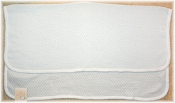Paty, Inc. Baby Coming Home Swaddle Blanket in White with Blue Trim