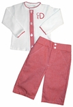 Paty Inc. Baby Boy's Red Gingham Button Down Top and Pants