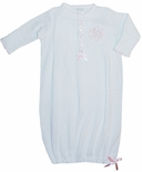 Paty, Inc. Pink Ribbon Baby Girl Gown Sleeper