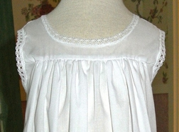 Girl's White Heirloom Slip, Beach Portrait Dress for Girls.