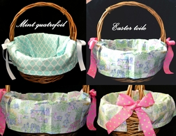 Personalized Easter Basket Cover, Monogrammed Basket Cover