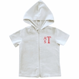 a41f0c64d3e6b Personalized Boy s White Terry Coverup for the Beach or Pool