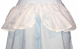 "Personalized Cinderella Blue ""Ball Gown"" with Eyelet Dress"