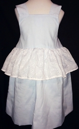 """Personalized Cinderella Blue """"Ball Gown"""" with Eyelet Dress"""