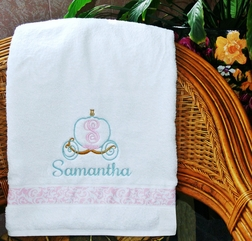 Personalized Cinderella DisneyTowel for the Pool, Beach or Bath