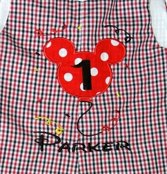 Personalized Mickey Mouse Birthday Balloon and Confetti Custom John John, Longall or Outfit