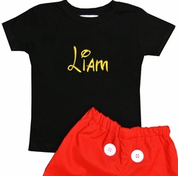 PERSONALIZED MICKEY MOUSE Suit Shorts Set Outfit